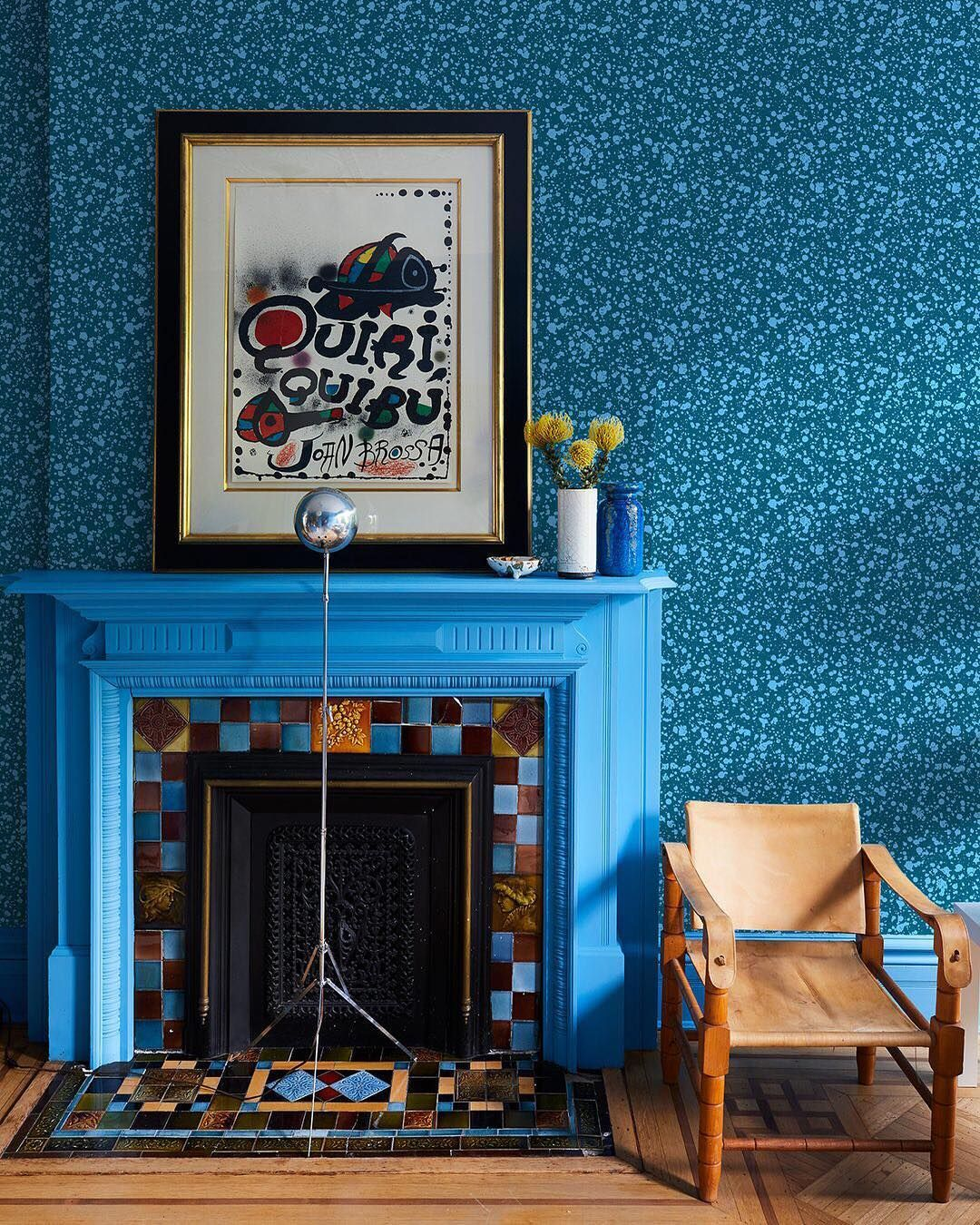 Vogue Living On Instagram If Spartan Rooms And Neutral Hues Leave You Cold A New Line Of Maximalist Wallpapers B Fireplace Design Vinyl Wallpaper Chris Benz