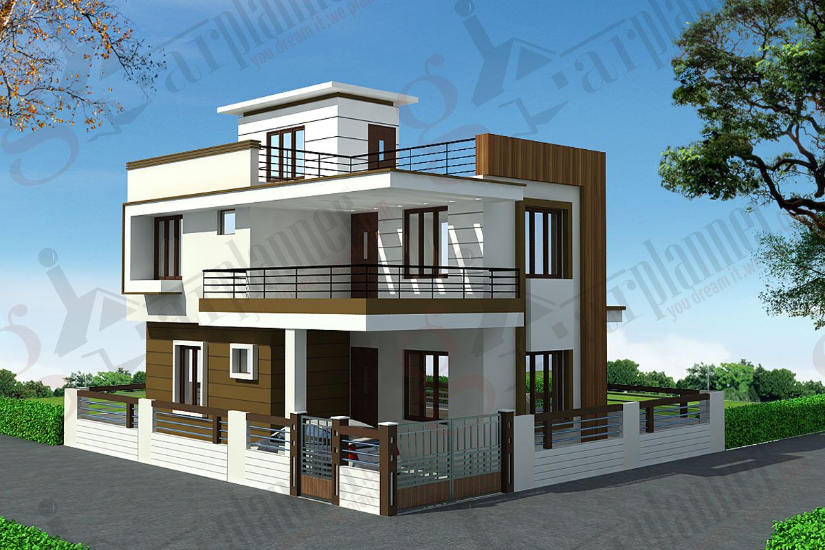 House plan house elevation indian pinterest duplex for Small bungalow house plans in india