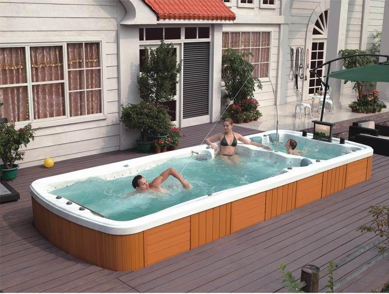 Guangzhou J Sanitary Ware Co Ltd Tel 86 20 36460026 Website Www Jnjhydrospa Com Contact Person Mr Tony E Ma Hot Tub Swim Spa Swim Spa Swim Spa Deck