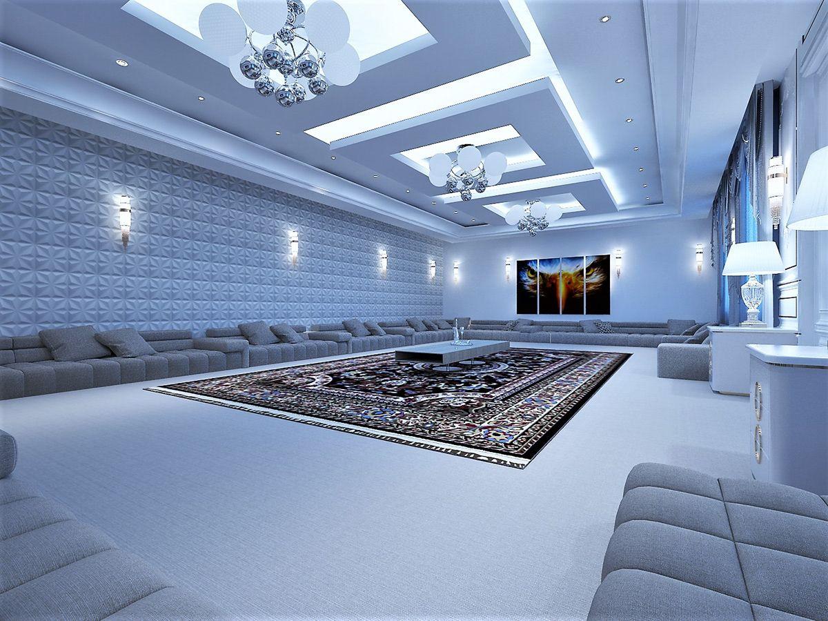 مجلس رجال On Behance Luxury House Interior Design Ceiling Design Modern Luxury Sofa Design