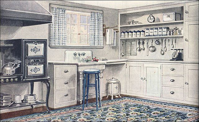 1921 Armstrong Kitchen Sanitary Style 1920s Kitchen Craftsman