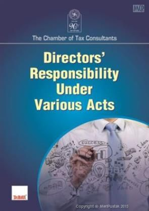 Directors Responsibility Under Various Acts Buy Corporate