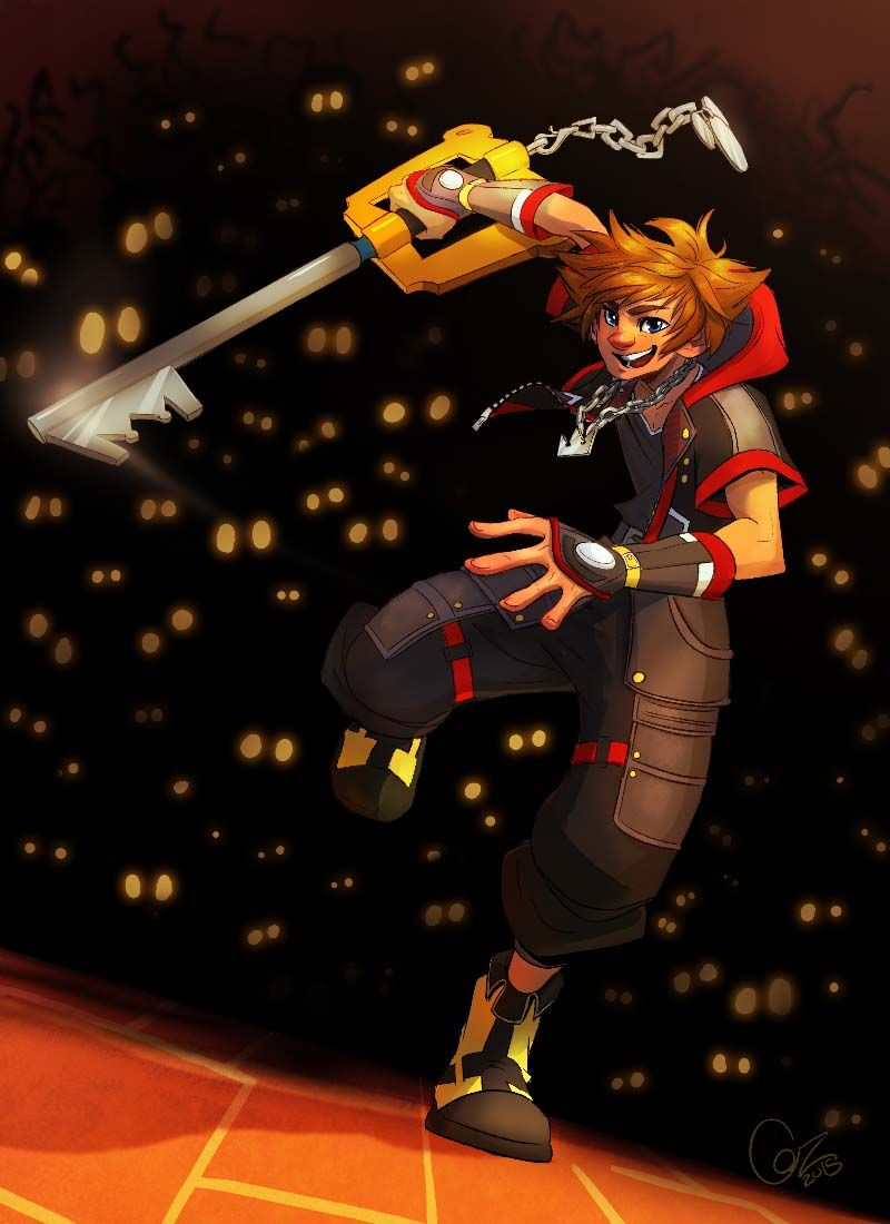 I Dont Know If Id Be Smiling Like That With That Many Heartless Behind Me Kingdom Hearts Kingdom Hearts Characters Kingdom Hearts Art