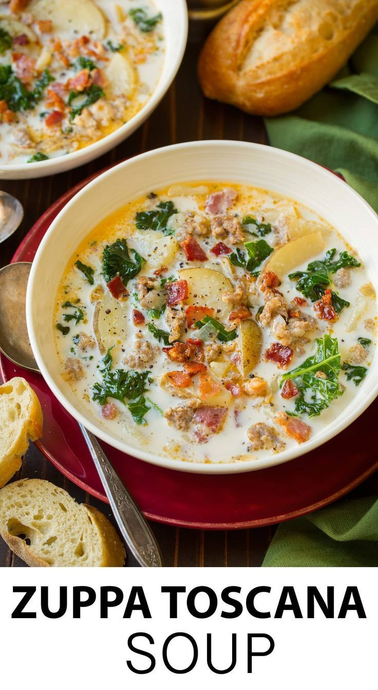 Zuppa Toscana - this is one of the tastiest most comforting soups! Easy to make and it has such a delicious flavor! #zuppatoscana #soup #recipe #cookingclassy via @cookingclassy #soupandsalad