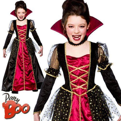 Vampire Princess Age 8 9 10 Girls Fancy Dress Kids Halloween