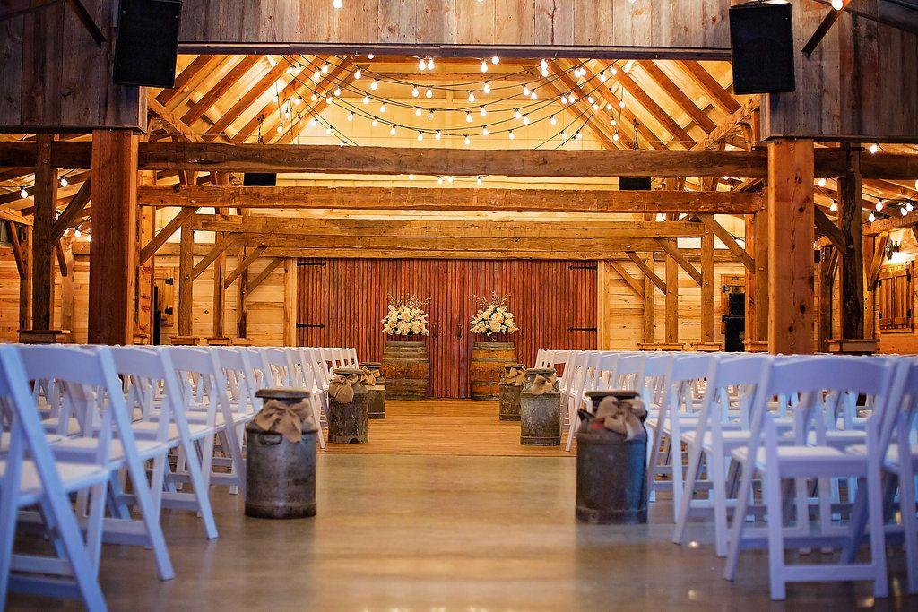 Indoor ceremony venue, indoor reception venue red barn ...