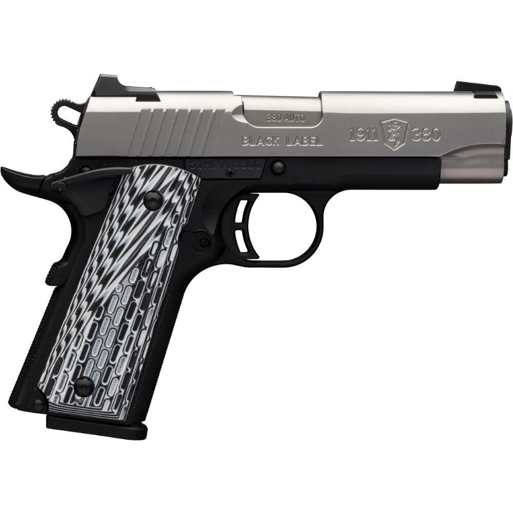 Browning 1911-380 Black Label Pro .380 ACP Semi Auto Pistol 3.625 ...