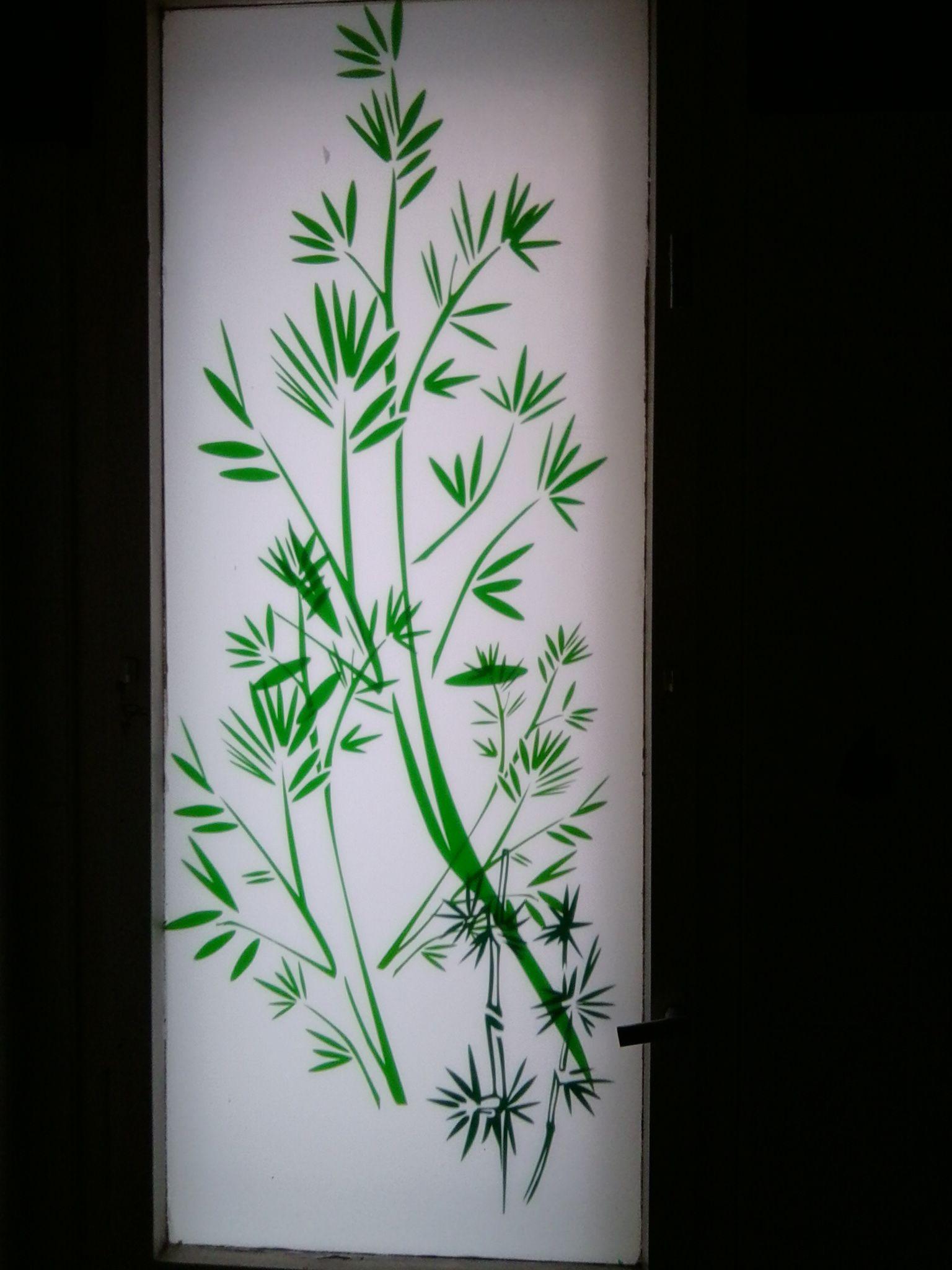 Auf dem Badezimmerfenster haben wir eine Folie aufgebracht