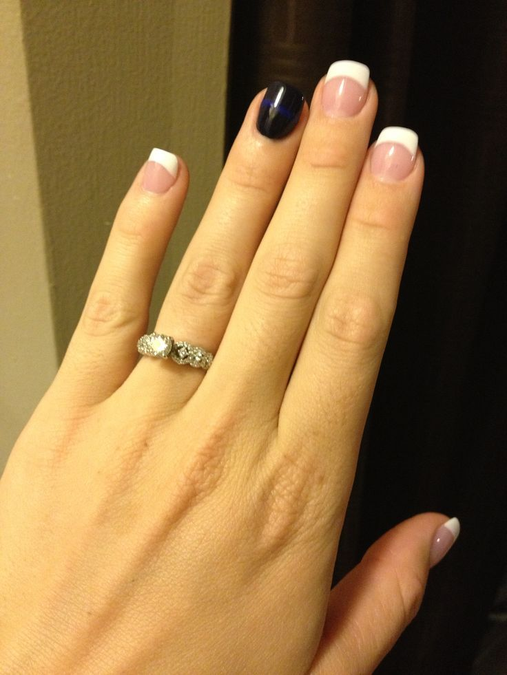 Delicate Thin Blue Line Ring