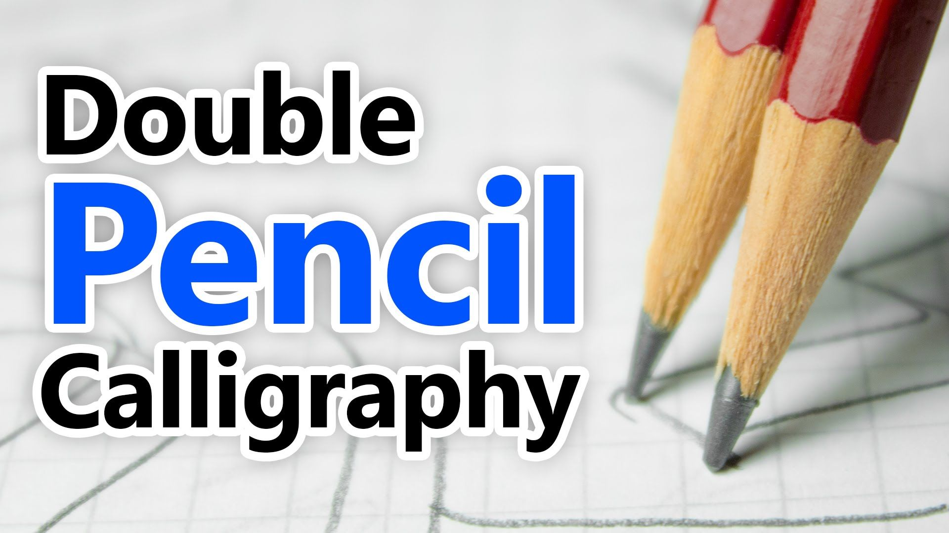 Writing Italic Calligraphy with two pencils YouTube