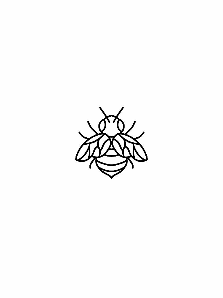 Little bee tattoo flash design …   Pinteres…