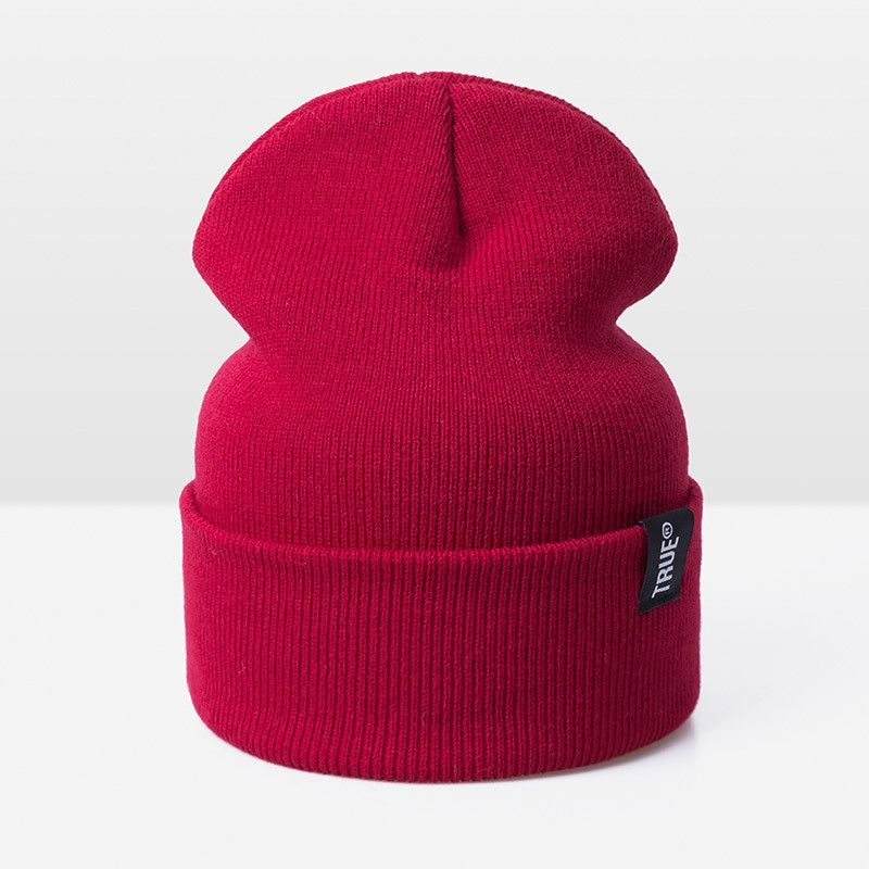 8d5f415e TRUE Unisex Winter Beanie Womens & Mens Fashion Warm Knitted Elastic ...