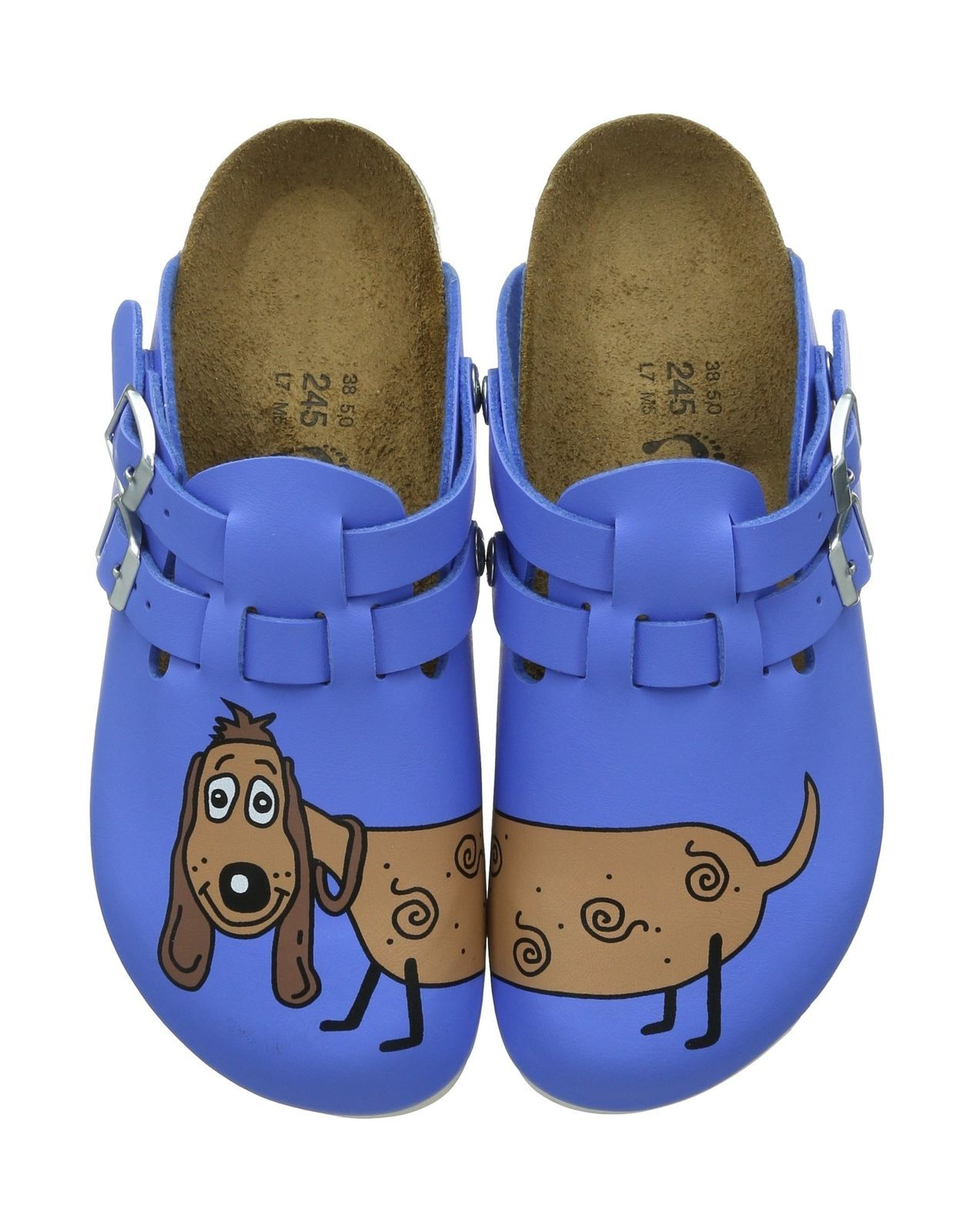 Birkenstock Kay, Womens Clogs and Mules Blue (dog Blue) 5