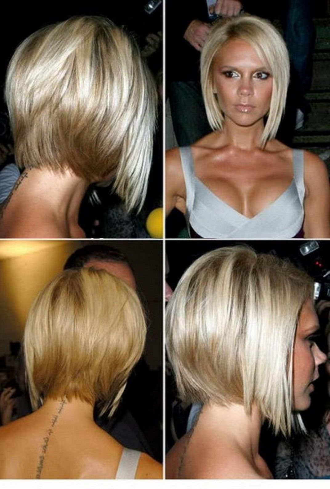 Stacked Bob Hairstyles Front Back Angled Bob Hairstyles Front And