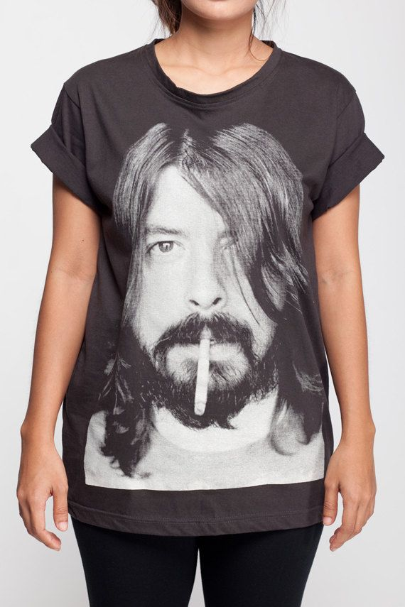e59164b8b26 DAVE GROHL camisa camiseta camiseta hard rock camiseta negra T camisas S M  L XL unisex