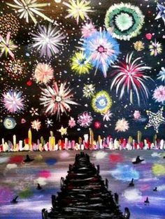 How to Paint Fireworks With Your Kids | Fireworks, Kid Art ...
