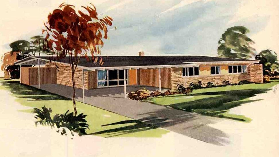 California ranch style homes 1950 s 1960 s ranch style for Architecture 1960