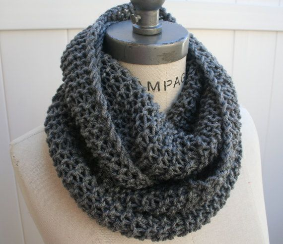 Most Sold Best Selling Shops Item Grey Gray Knit Scarf Handknit