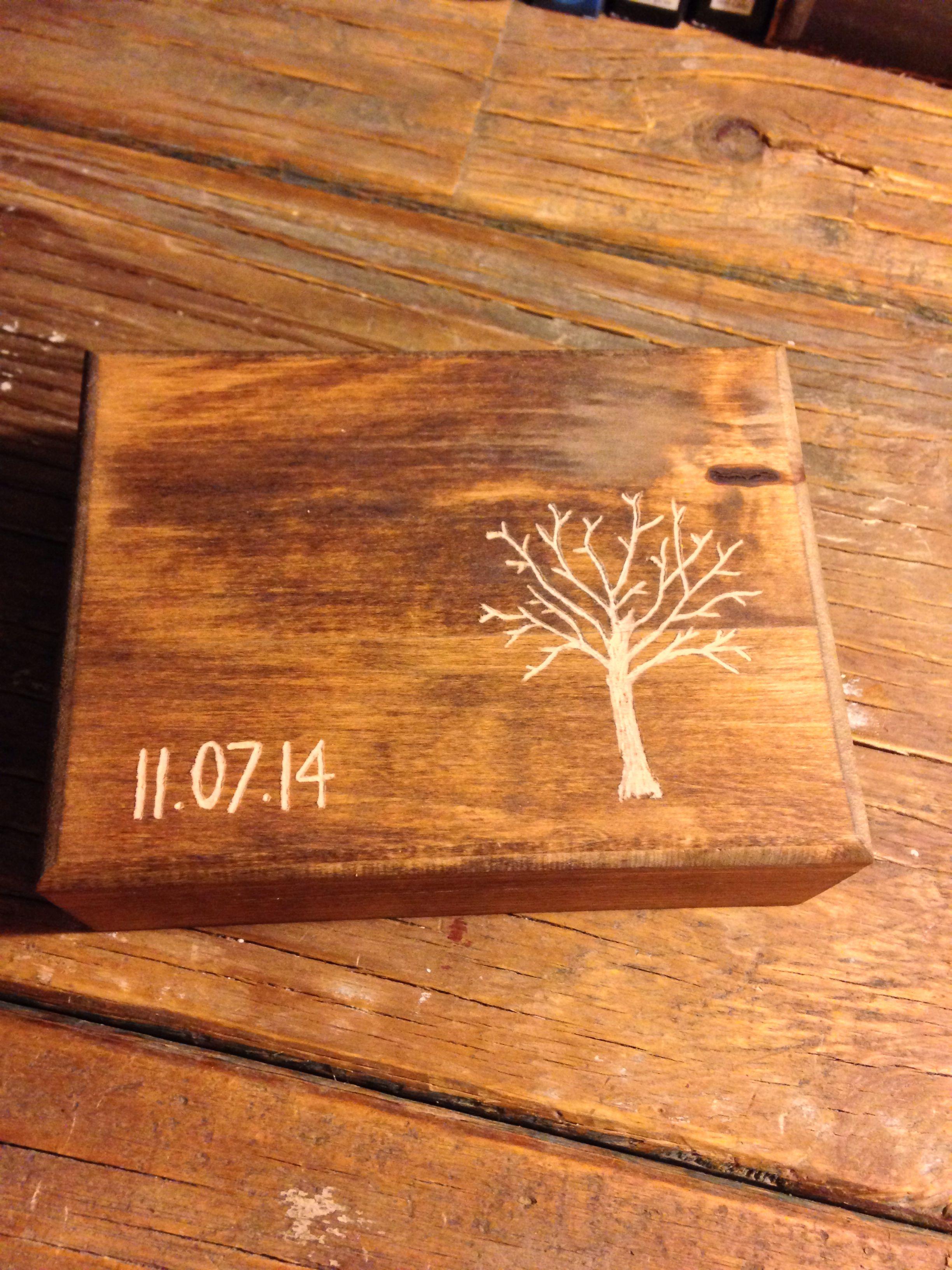DIY wedding ring box personalized Ring box wedding diy