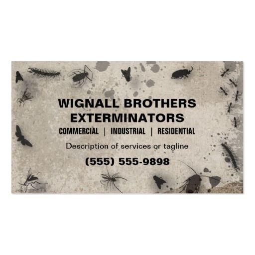 Exterminator Business Card Zazzle Com Business Cards Corporate Identity Business Cards Exterminator