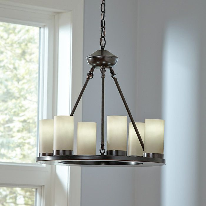 Birch lane warwick 6 light candle style chandelier reviews birch lane