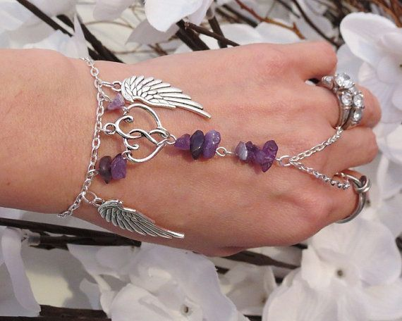 Hey, I found this really awesome Etsy listing at http://www.etsy.com/listing/120895394/double-heart-slave-bracelet-ring-angel