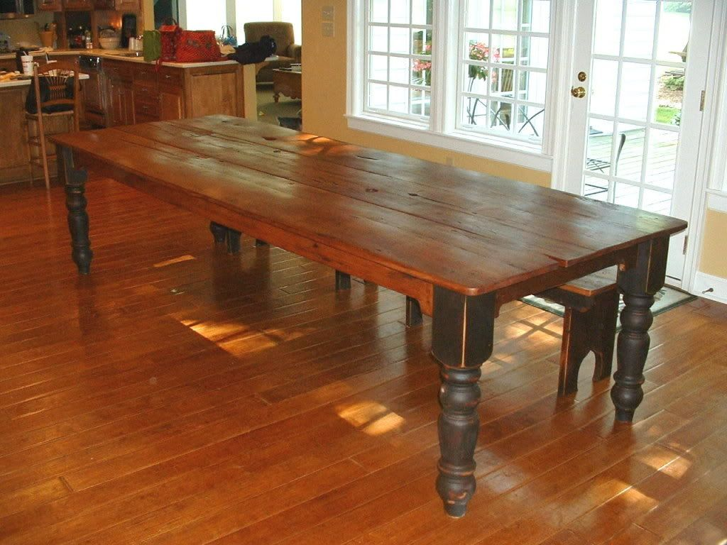 the 25 best farmhouse table ideas on pinterest farm. Black Bedroom Furniture Sets. Home Design Ideas
