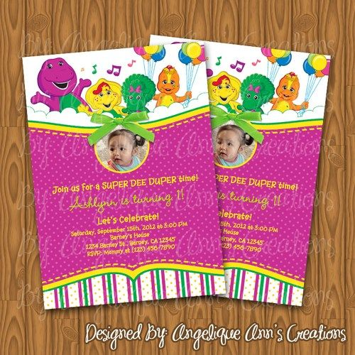 $13.99 Barney and friends Invitations