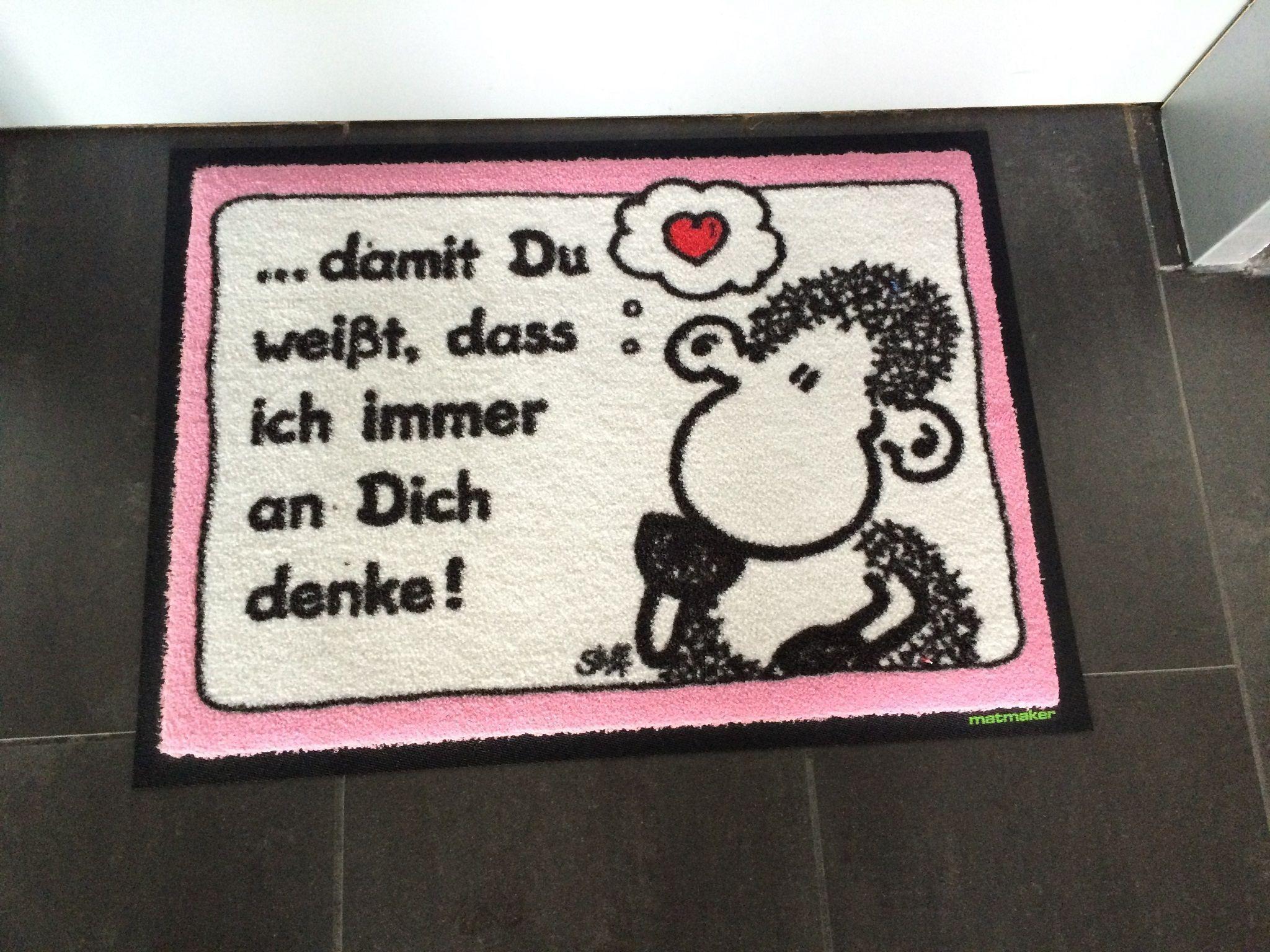 jemand denkt an Dich! Fußmatten mit Sheepworld-Motiven