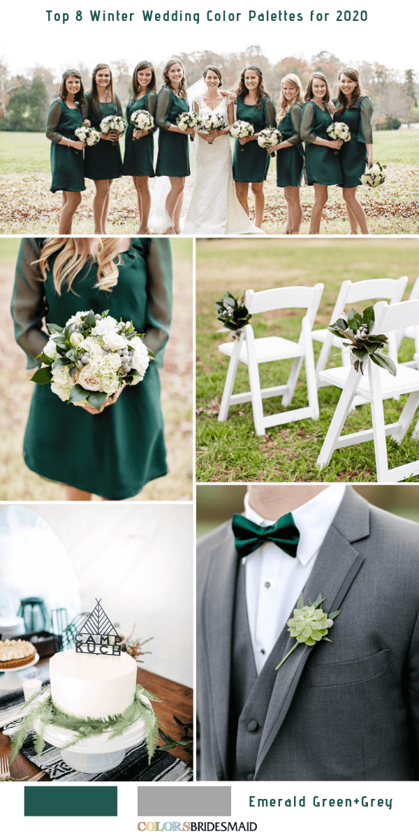 Photo of Top 8 Winter Wedding Color Palettes for 2020