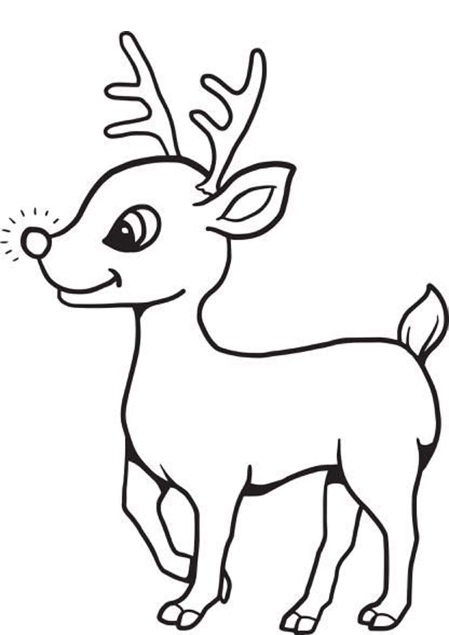 Rudolph The Red Nosed Reindeer Coloring Pages In 2020 Red Nosed Reindeer Rudolph The Red Valentines Day Coloring Page