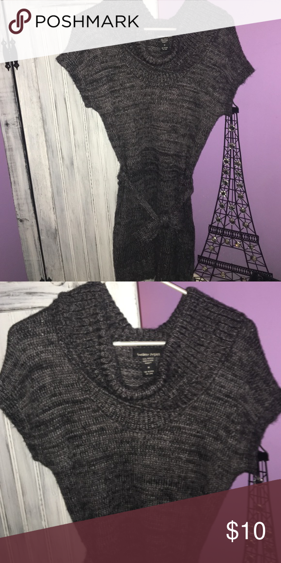 Sweater dress What a cute cow neck sweater dress!! It's a size medium and I would say a more juniors medium. Love this with some black tights and tall over the knees black boots!! In great condition!!! No holes, stains, no piling.. make me an offer!! Sweaters Crew & Scoop Necks