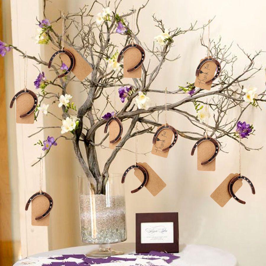 50xbridal Wedding Horseshoe Gift Set Lucky Horseshoes Xmas Tree