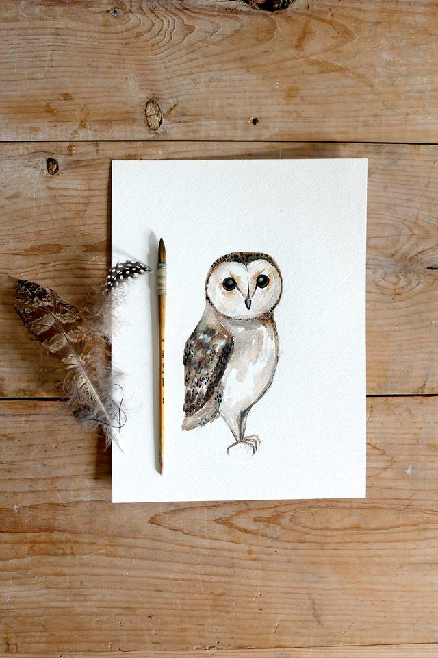 DIY Owl Watercolor Painting | eHow