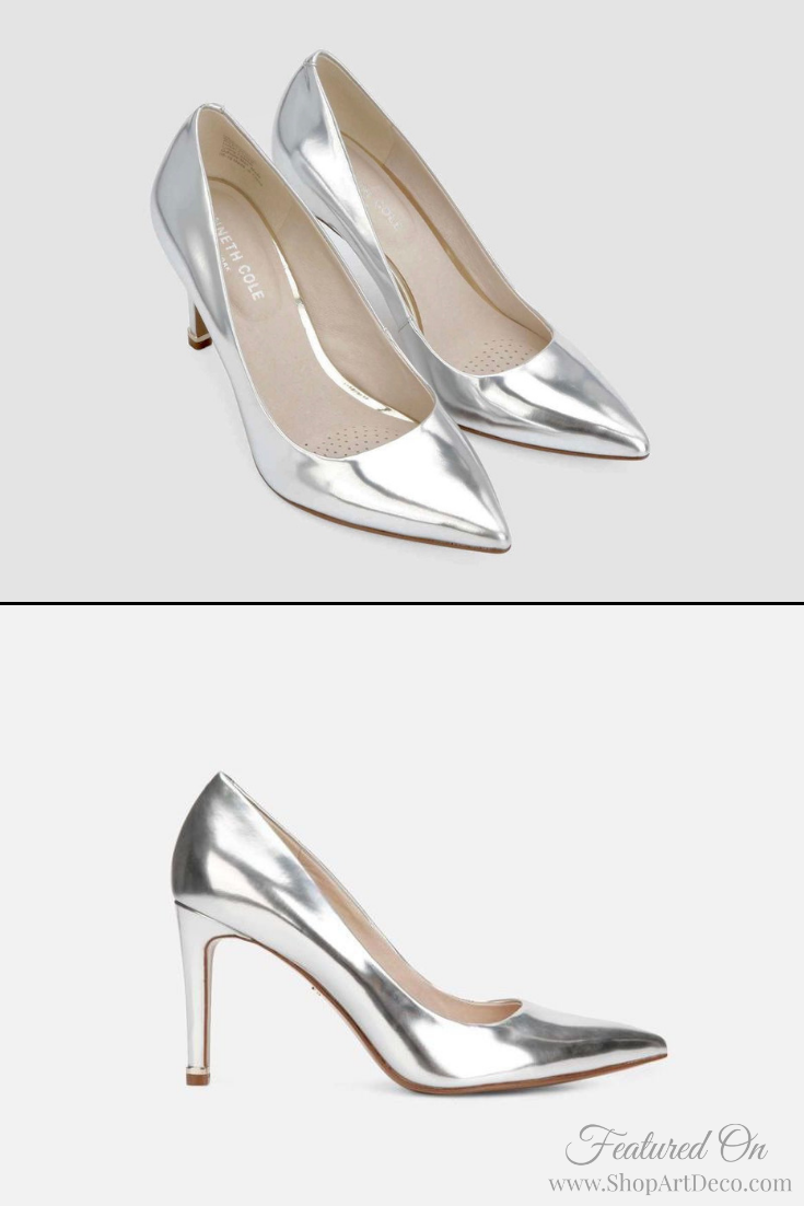 Silver Heels Metallic Silver Pumps Silver Wedding Shoes