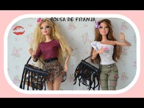 Bolsa de crochê para boneca barbie , silkstone - YouTube