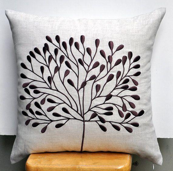 Tree Throw Pillow Cover Decorative Oatmeal Por Kainkain