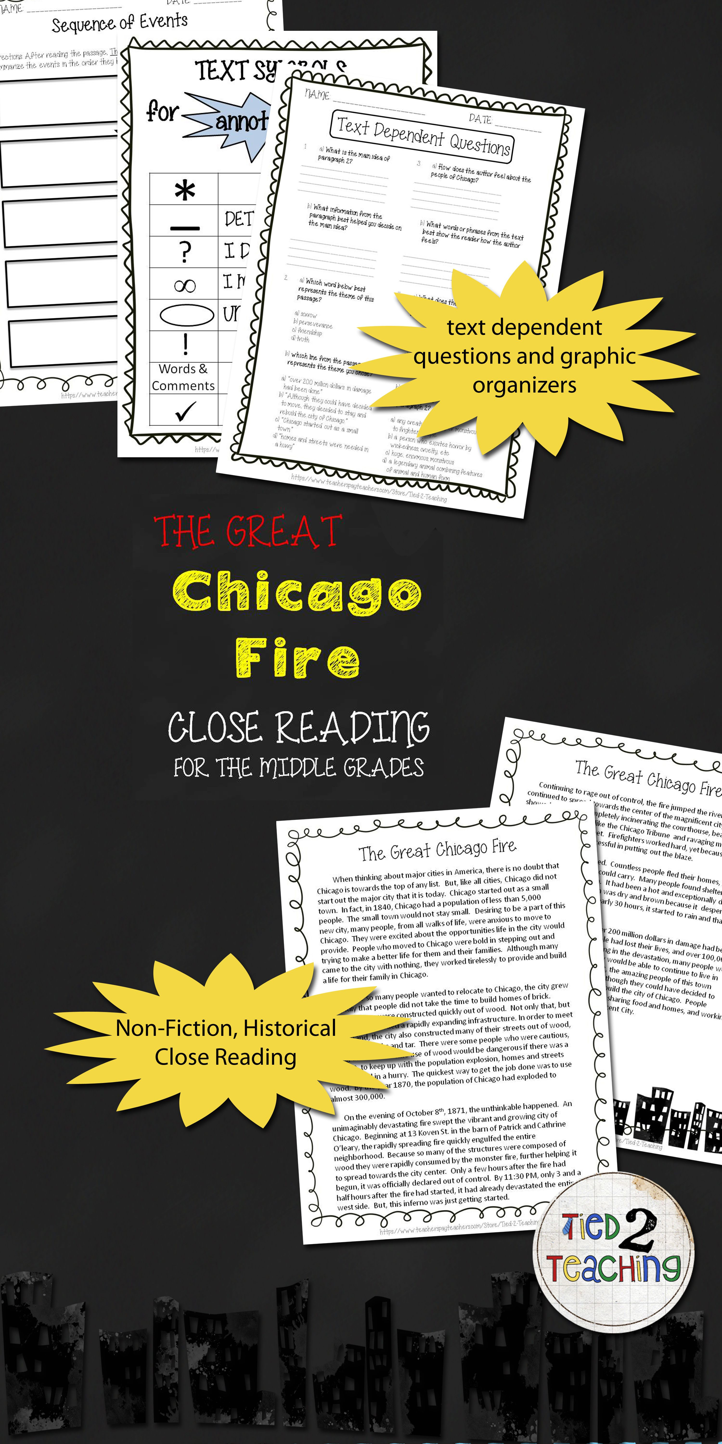 The Great Chicago Fire Reading Passage