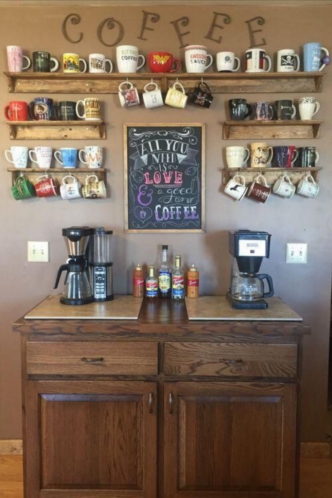 stylish home coffee station designs in itus coffee