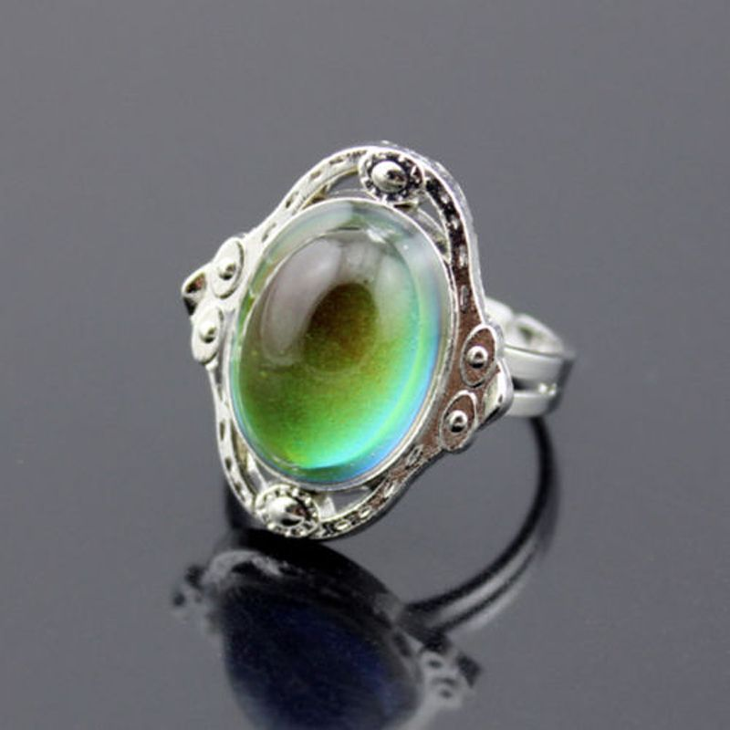 >> Click to Buy << Vintage Retro Color Change Mood Ring Oval Emotion Feeling Changeable Ring Temperature Control Jewelry Ring #Affiliate