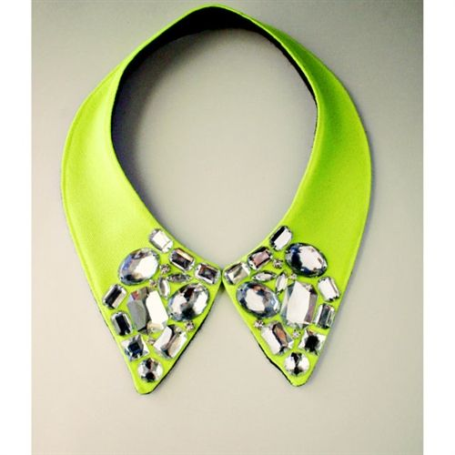 Neon rhinestone collar