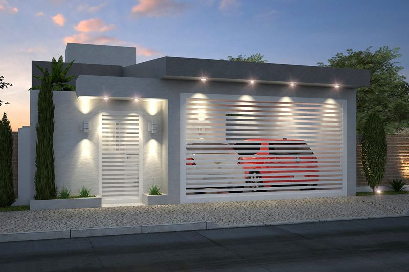 Modelos de fachadas de casas modernas yahoo image search for Cocheras minimalistas