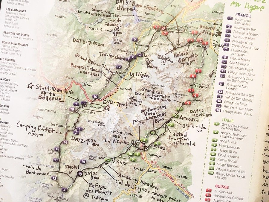Mont Blanc France Map.Tour Du Mont Blanc How To Hike Tmb In 6 Days Tour Du Mont Blanc