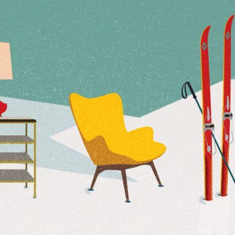 Mid Century Modern Ski Trip Inspiration Home Pinterest