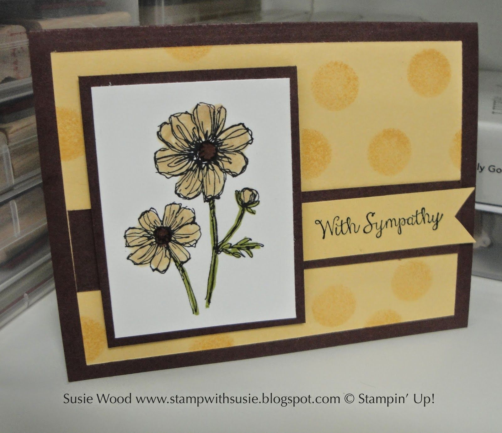 Stampin Up This Is A Clean Simple Sympathy Card Using Bloom