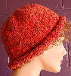 Free Knit Hat Pattern Cotton Chenille Waikiki Roll Brim Hat Crystal Palace Yarns Knitting Patterns Free Hats Hat Knitting Patterns Knitted Hats