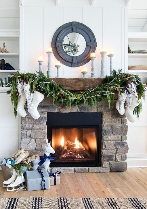 50 Smart Fireplace Christmas Decoration Ideas - Zbp.us