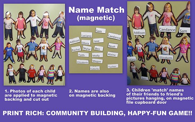 Name & face recognition game: match photo to name
