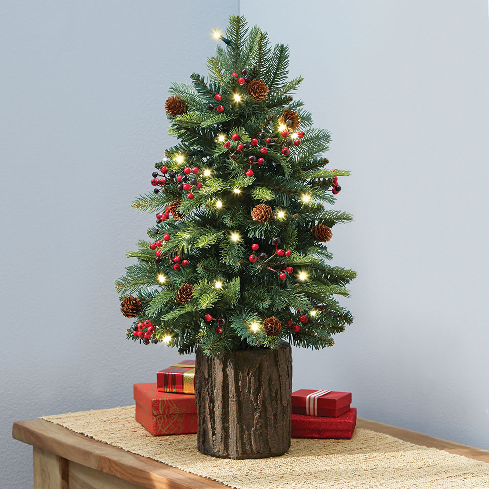 Tabletop Prelit Christmas Tree - Hammacher Schlemmer ...