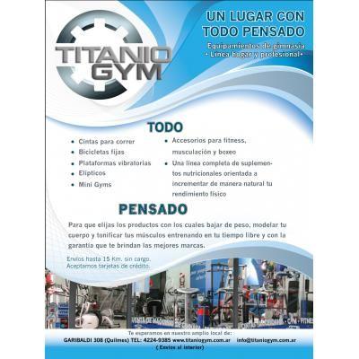 TITANIO GYM - EQUIPAMIENTOS DE GIMNASIA ( QUILMES) http://moron.anunico.com.ar/aviso-de/deportes_fitness/titanio_gym_equipamientos_de_gimnasia_quilmes_-7832451.html